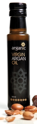 Arganic oil bottle