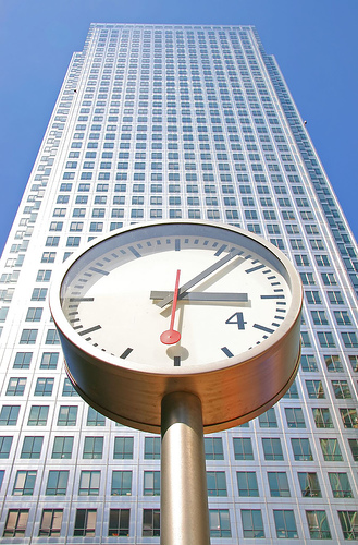 Canary Wharf Clock