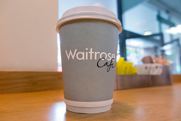 Waitrose coffee cup