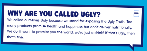 Ugly Drinks FAQ